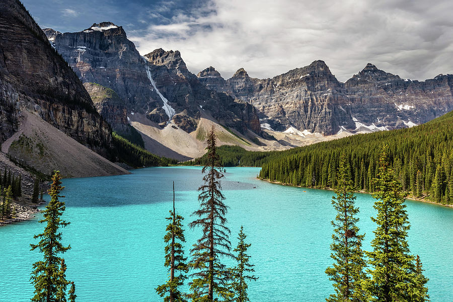 The Most Beautiful Lake In Canada Moraine Lake Photograph By Pierre Leclerc Photography