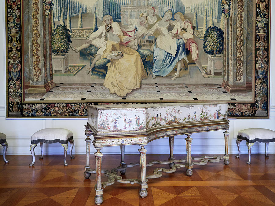 The Music Room with a Harpsichord. Schloss Charlottenburg.Berlin by Jouko Lehto