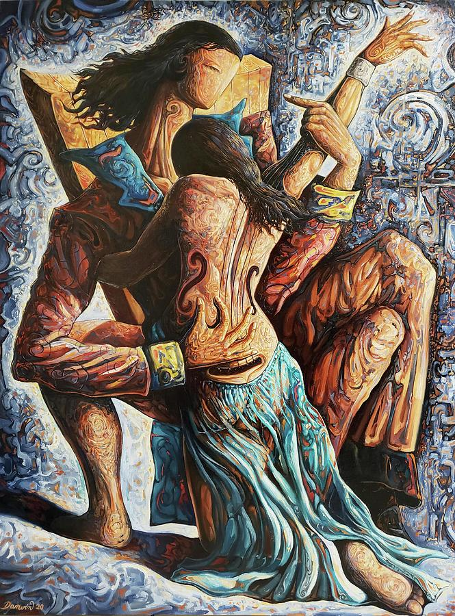 Couple Painting - The Musician by Darwin Leon