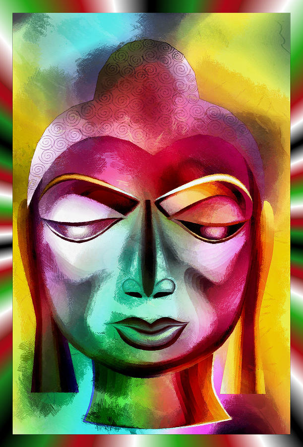 The Mystic Buddha Digital Art
