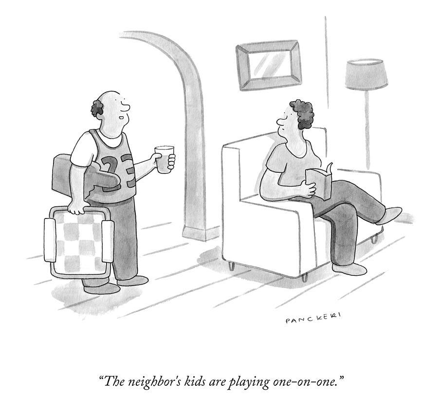 The Neighbor KIds Drawing by Drew Panckeri
