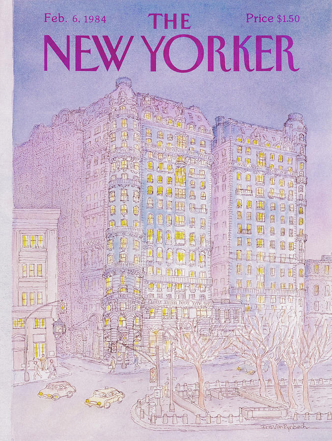 The New Yorker Cover - February 6th, 1984 Painting by Iris Van Rynbach