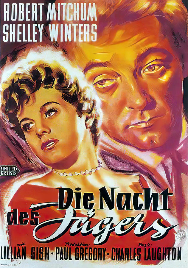 the Night Of The Hunter, With Robert Mitchum And Shelley Winters, 1955 Mixed Media