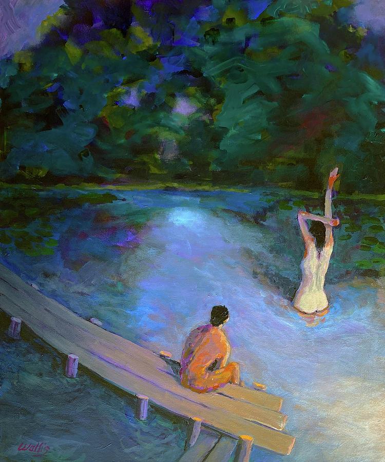 The Night Swim Painting