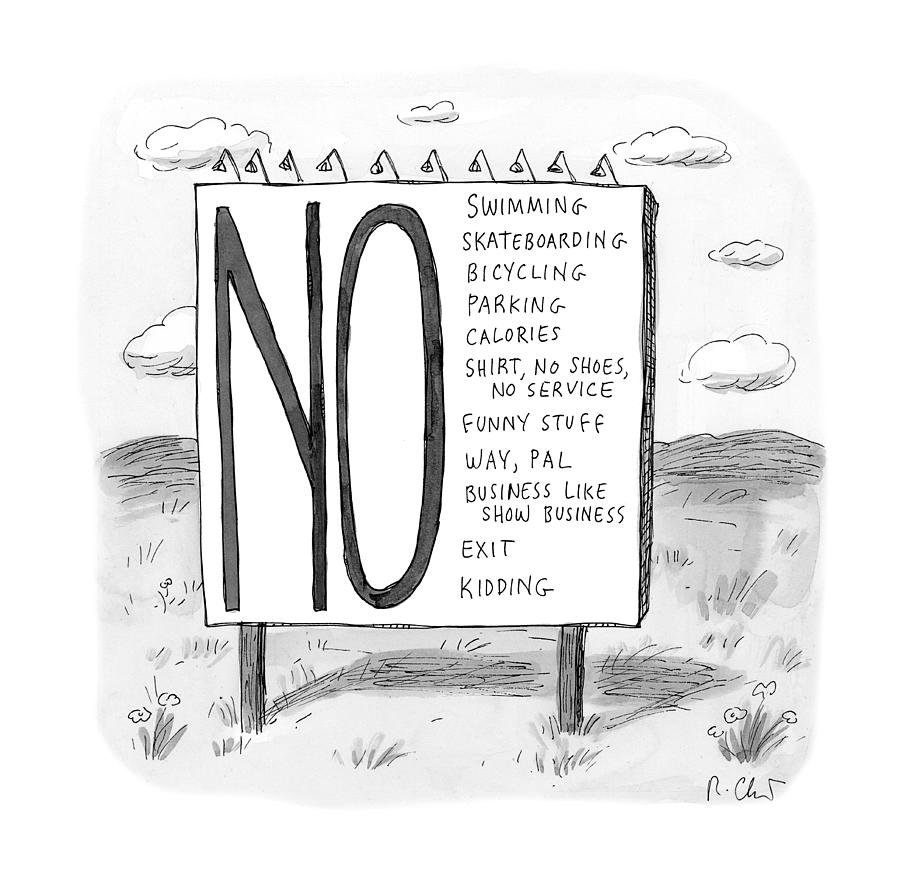 The No List Drawing by Roz Chast