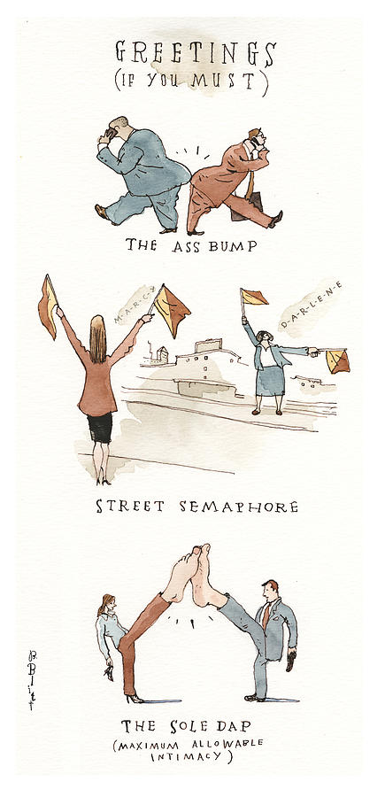 The Non-Hand Jive Painting by Barry Blitt