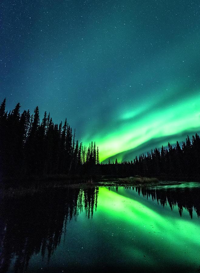 The Northern Lights Over Alaska Photograph