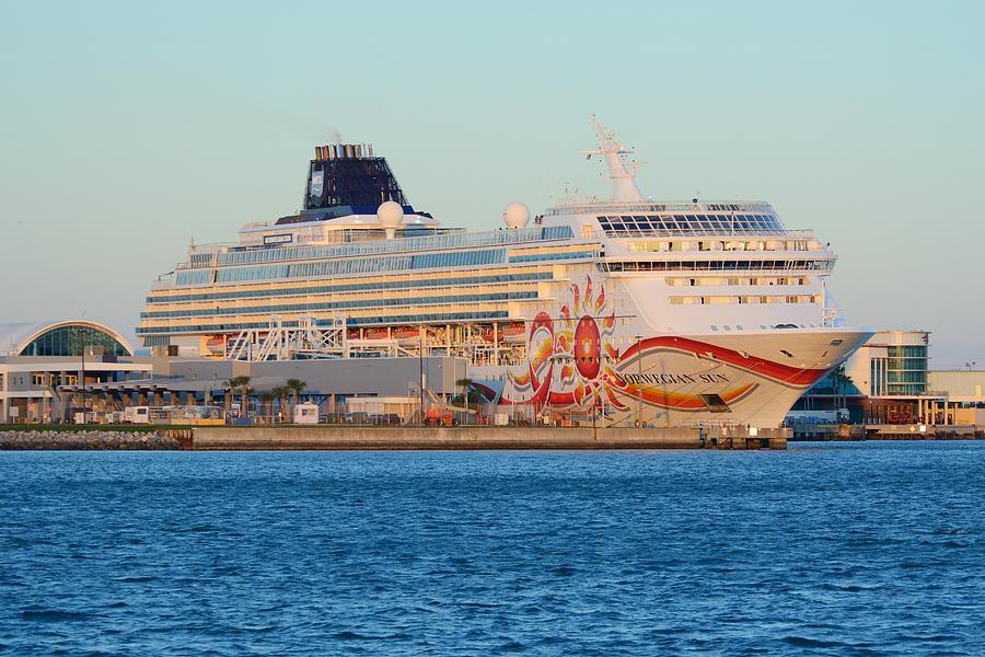 The Norwegian Sun at Dock by Bradford Martin