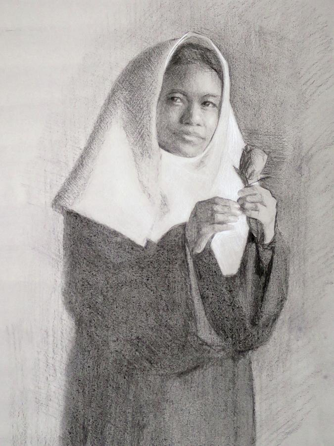 Portrait Drawing - The Novice From Autumn Triduum by Bethany Lee