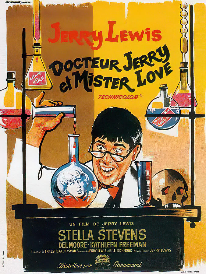 the Nutty Professor, With Jerry Lewis, 1963 Mixed Media