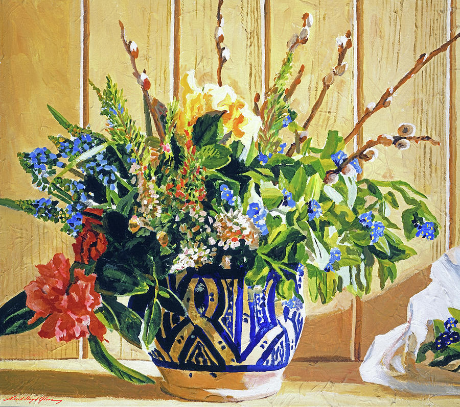 THE OLD BLUE FLOWER POT by David Lloyd Glover