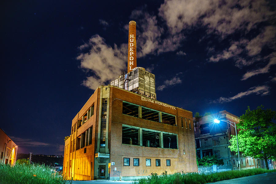 The old  Hudepohl Beer Factory before demolition in Cincinnati Ohio 05-22-2017 by Dave Morgan