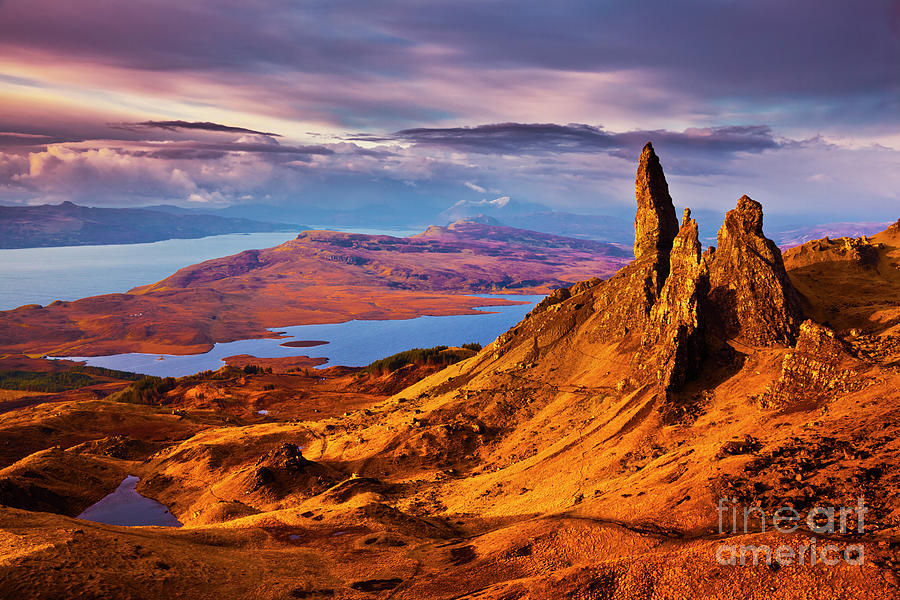 The Old Man of Storr at sunrise, Isle of Skye by Neale And Judith Clark