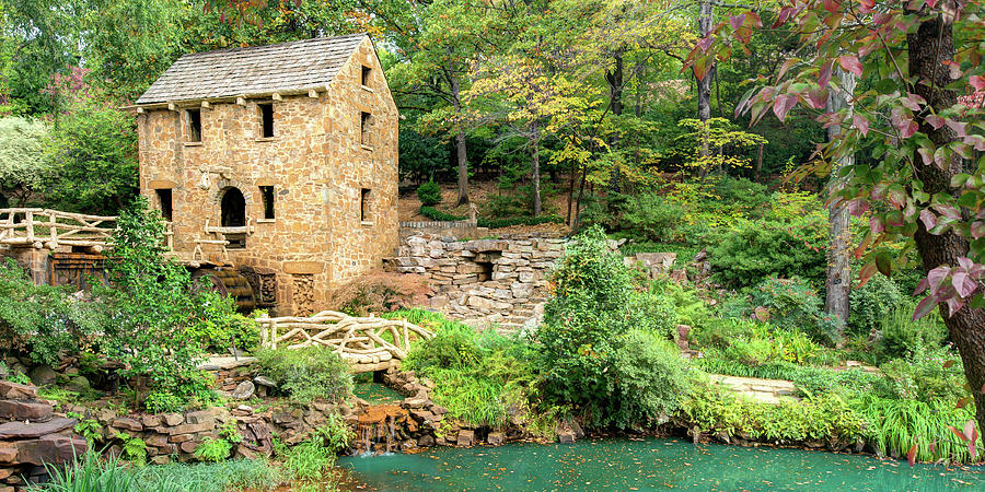 The Old Mill In North Little Rock Arkansas Panorama Photograph