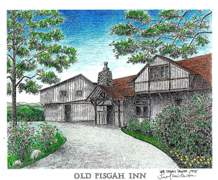 The Old Pisgah Inn in 1918 Drawing by Lee Pantas