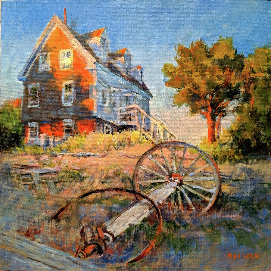 Cape Cod Painting - The Old Silva Place No. 2 by Peter Salwen