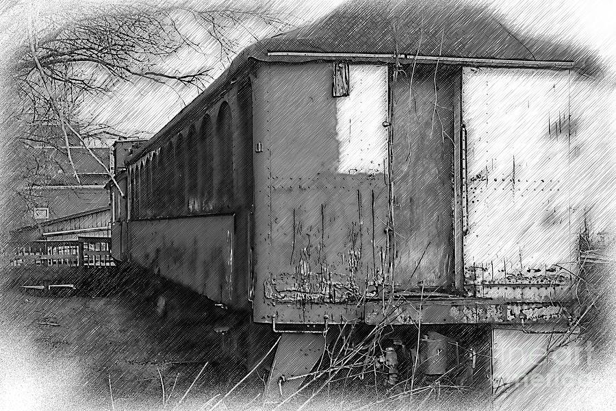 Train Digital Art - The Old Train Car by Kirt Tisdale