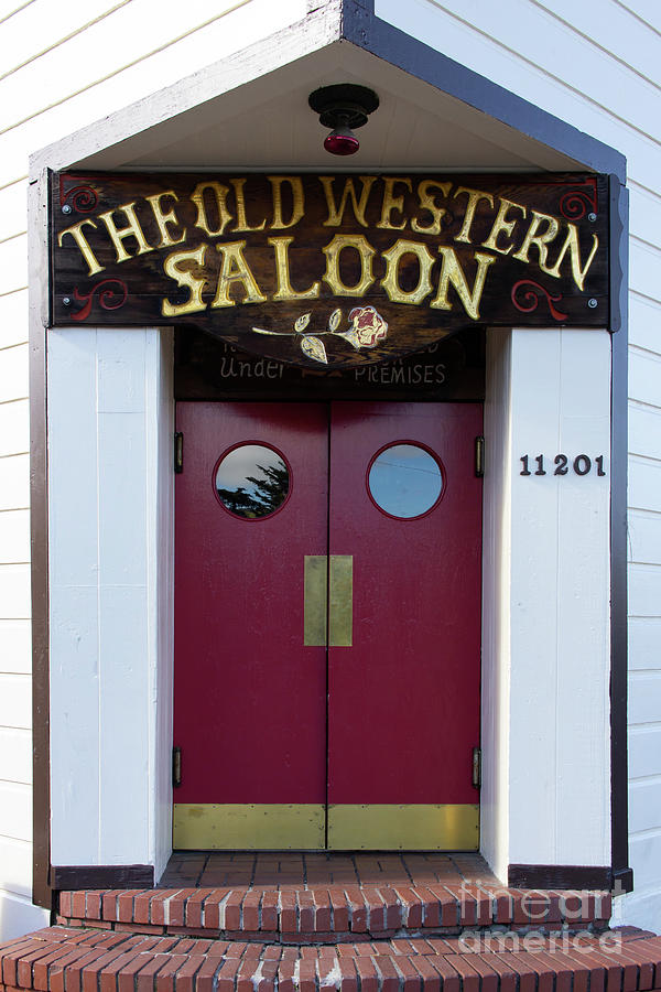 The Old Western Saloon in The Town of Point Reyes Station California R1862 by San Francisco