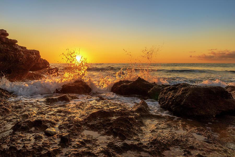 Oropesa Photograph - The Oropesa Coast Of The Sea At Sunrise by Vicen Photography