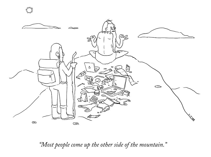 The Other Side Of The Mountain Drawing by Colin Tom