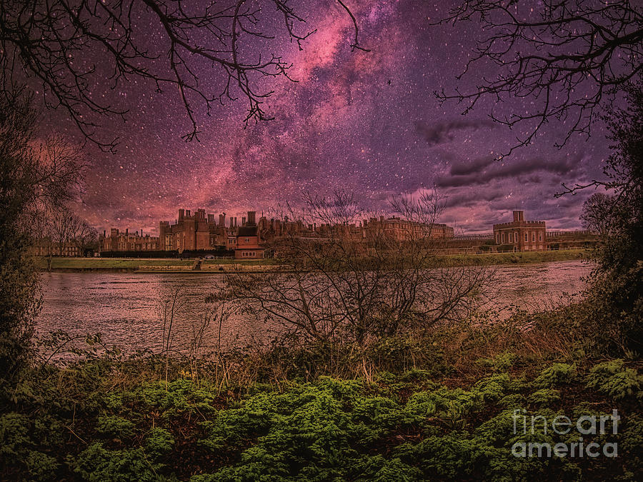 Hampton Court Palace Photograph - The Palace Across The Water by Leigh Kemp