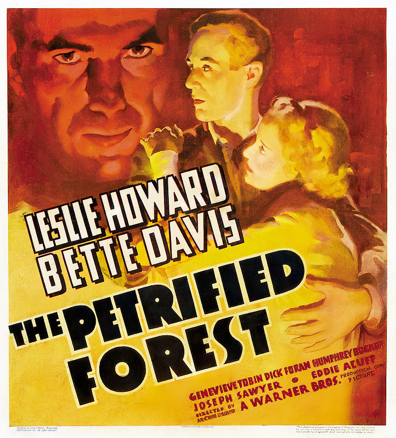 the Petrified Forest, With Leslie Howard And Bette Davis, 1936 Mixed Media
