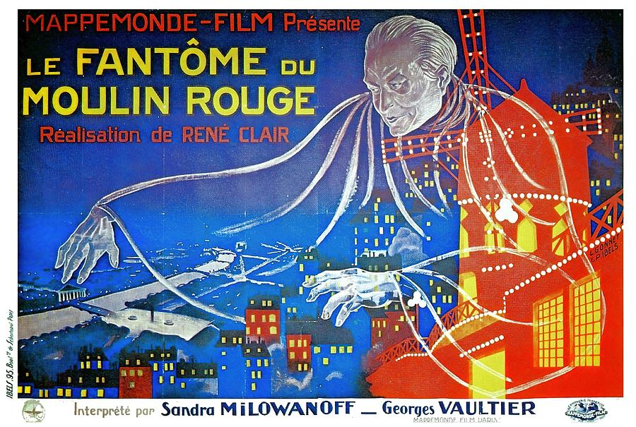 the Phantom Of The Moulin Rouge, 1925 Mixed Media