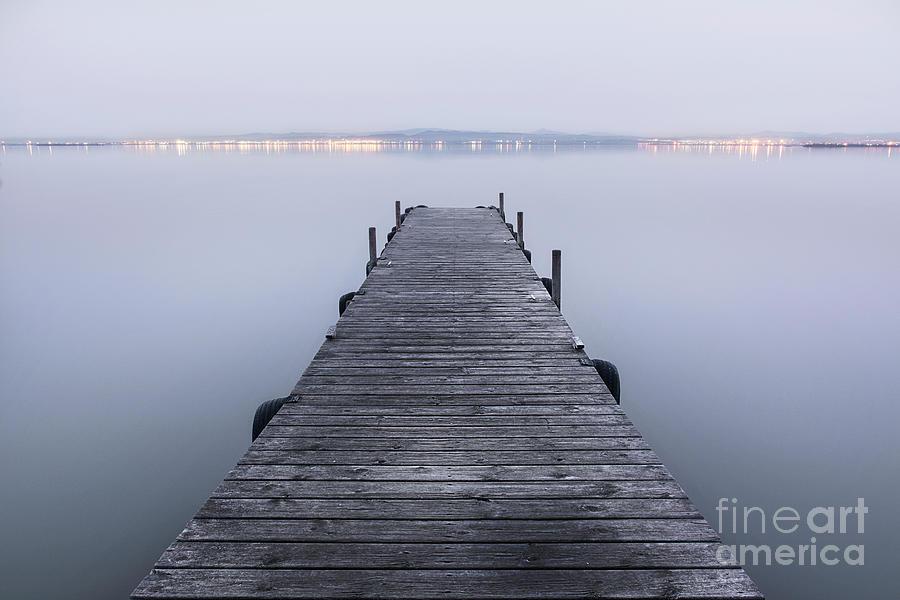 Landscape Photograph - The Pier by Vicente Sargues