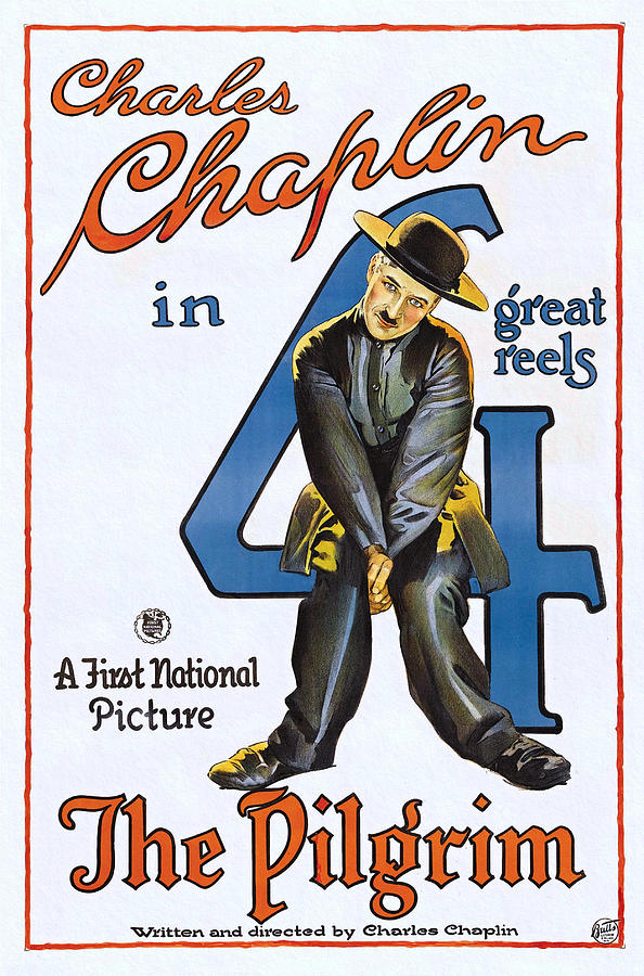 The Pilgrim Charlie Chaplin Silent Comedy Movie 1921 by First National