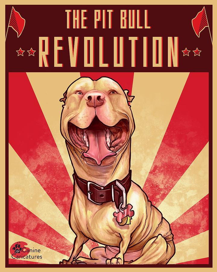 The Pit Bull Revolution Drawing