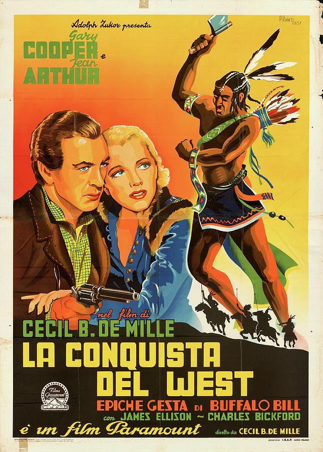 the Plainsman Poster 1936 Mixed Media