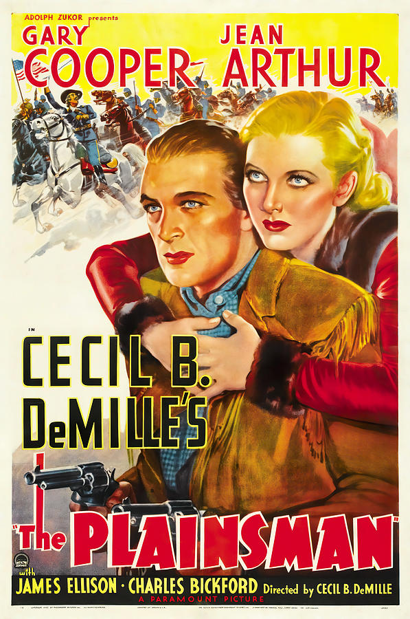 the Plainsman, With Gary Cooper And Jean Arthur, 1936 Mixed Media