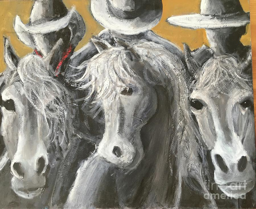 Cowboy Painting - The Posse by Mark Macko