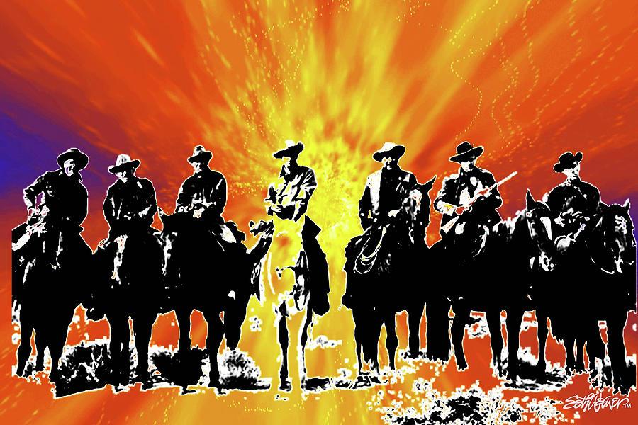 Riders Digital Art - The Posse by Seth Weaver