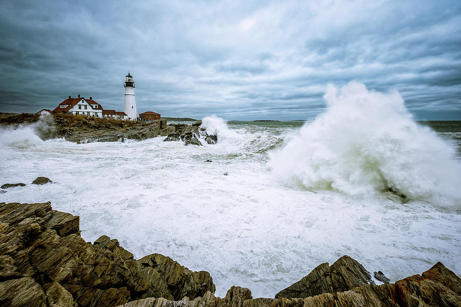 The Power Of The Sea, Nor'easter Waves. by Jeff Sinon