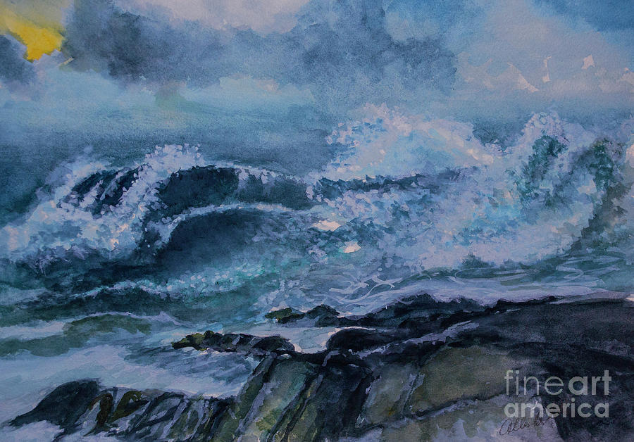 The Power Of Waves Painting