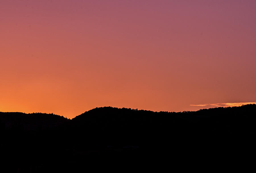 The Pre Sunrise Glow In The Mountains Photograph