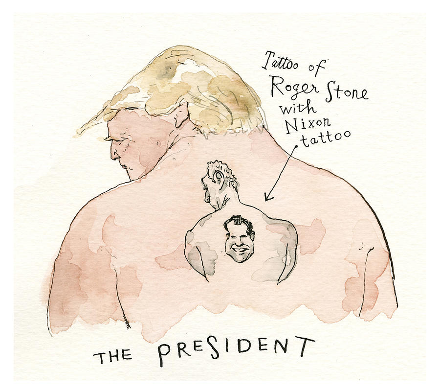 The President Painting by Barry Blitt