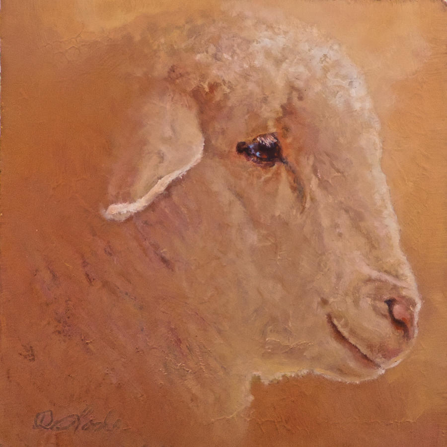 Lamb Painting - The Prince by Mia DeLode