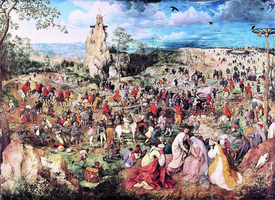 Pieter Bruegel Painting - The Procession To Calvary - Digital Remastered Edition by Pieter Bruegel