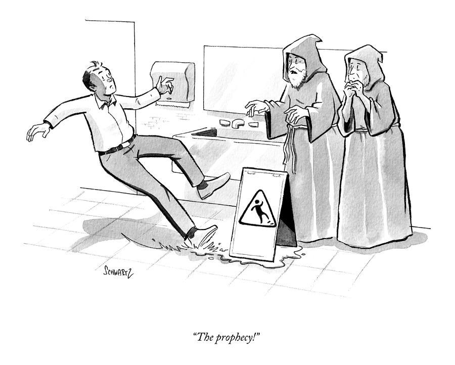 The Prophecy Drawing by Benjamin Schwartz