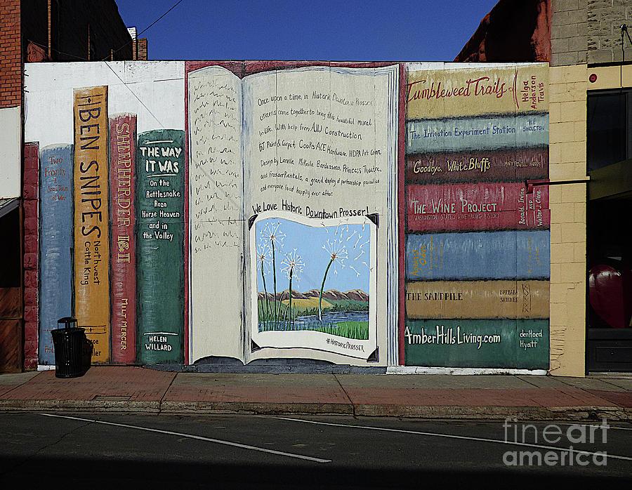 The Prosser Bookshelf Mural Photograph