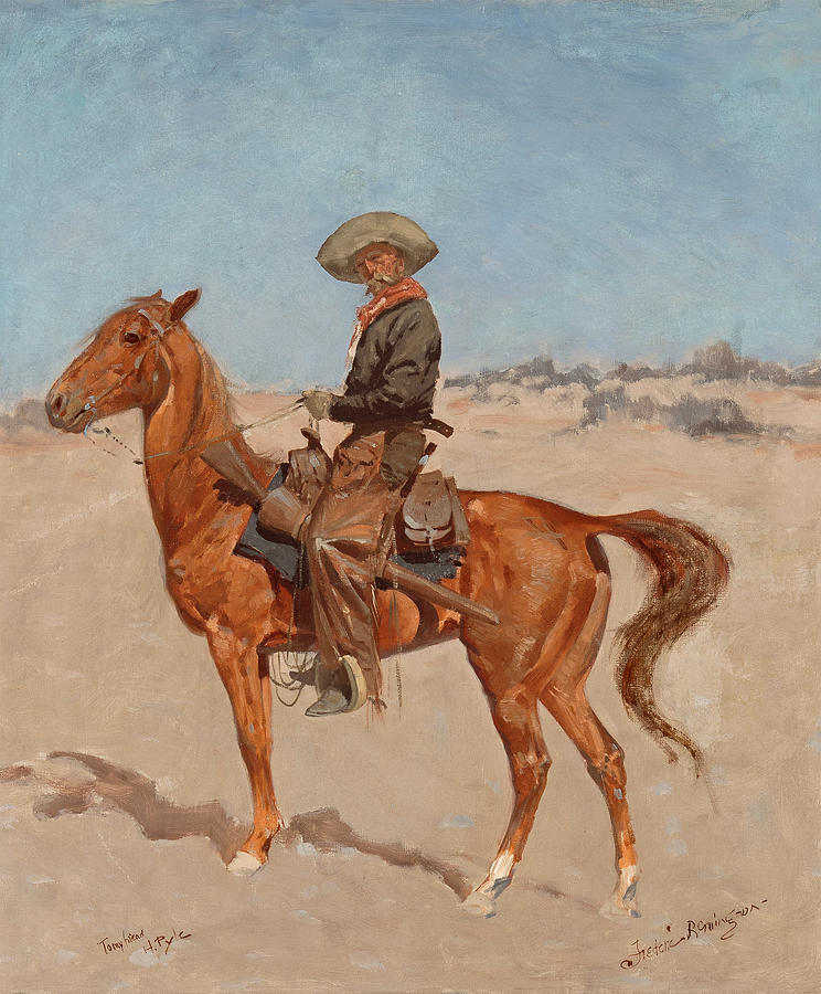 Frederic Remington Painting - The Puncher by Frederic Remington