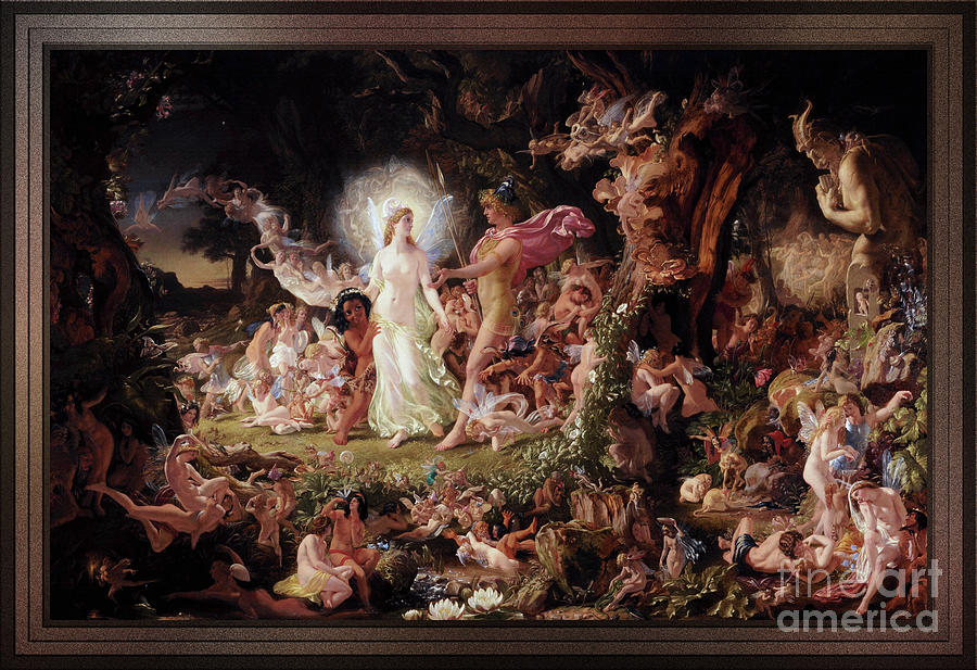 The Quarrel of Oberon and Titania by Joseph Noel Paton by Xzendor7