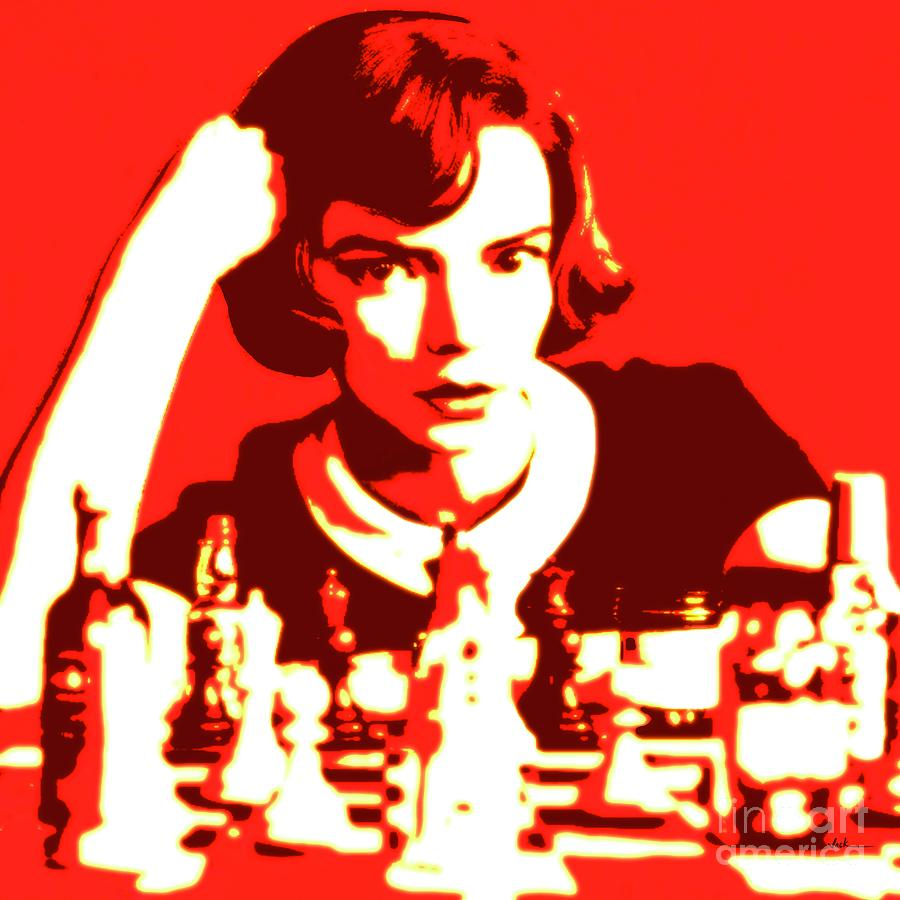 Chess Painting - The Queens Gambit by Jack Bunds