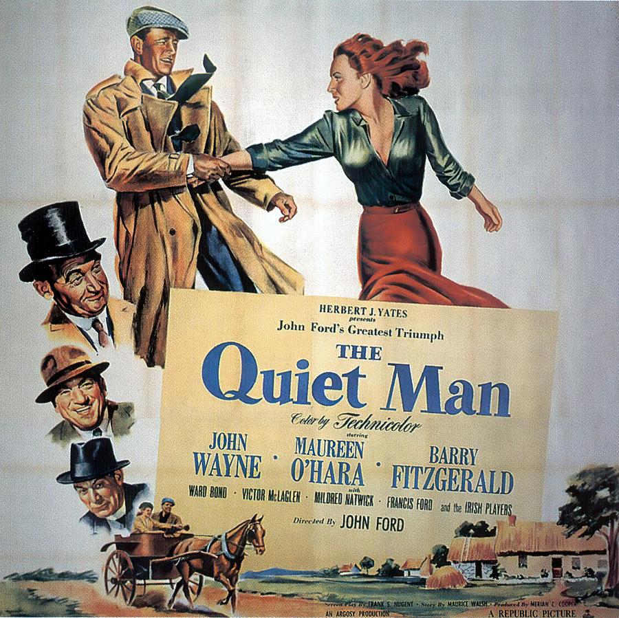 the Quiet Man, With John Wayne And Maureen Ohara, 1952 Mixed Media