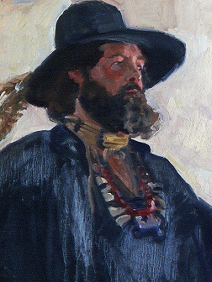 Portraits Painting - The Rebel Pilgrim by Betty Jean Billups