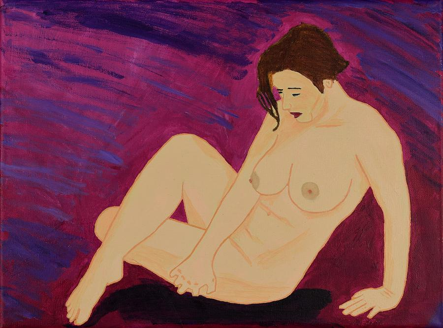 Nude Painting - The Recumbent by Acrylic Asylum Art