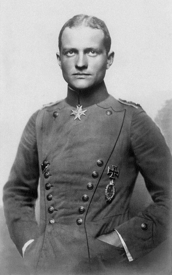The Red Baron - Manfred Von Richthofen - 1917 Photograph