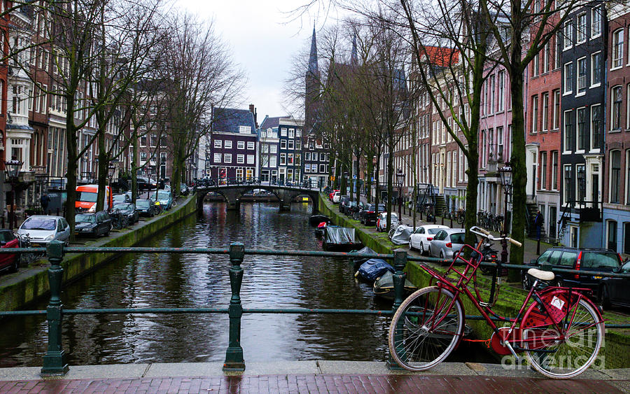 Amsterdam Photograph - The Red Bike by Norma Brandsberg